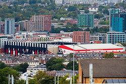 Sheffield United Football stadium Barmall Lane Sheffield<br /> Home of the Blades Viewed from Parkview road<br /> <br /> www.pauldaviddrabble.co.uk<br /> All Images Copyright Paul David Drabble - <br /> All rights Reserved - <br /> Moral Rights Asserted -