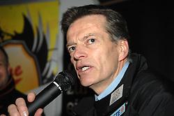 25.02.2011, Eisstadion Liebenau, Graz, AUT, EBEL, Graz 99ers vs EV Vienna Capitals, Pressekonferenz, nach dem Spiel, im Bild Bill Gilligan (Head Coach, Moser Medical Graz 99ers), EXPA Pictures © 2011, PhotoCredit: EXPA/ J. Hinterleitner