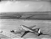 11/04/1958.04/11/1958.11 April 1958.Airport reconstruction, Dublin Airport, Aer Lingus, aeroplane,