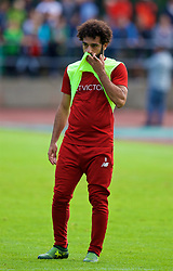 ROTTACH-EGERN, GERMANY - Friday, July 28, 2017: Liverpool's Mohamed Salah during a training session at FC Rottach-Egern on day three of the preseason training camp in Germany. (Pic by David Rawcliffe/Propaganda)