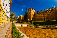 Old City Walls, Cordoba, Cordoba Province, Andalusia, Spain.