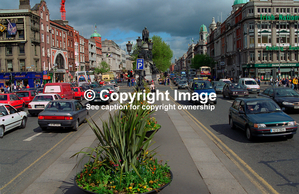 O'Connell Street, Dublin, Rep of Ireland, 199905003.<br /> <br /> Copyright Image from Victor Patterson, Belfast, UK<br /> <br /> t: +44 28 9066 1296 (from Rep of Ireland 048 9066 1296)<br /> m: +44 7802 353836<br /> e: victorpattersonbelfast@gmail.com<br /> <br /> www.images4media.com<br /> <br /> Please see my full Terms and Conditions of Use at https://www.images4media.com/p/terms-conditions - it is IMPORTANT that you familiarise yourself with them.<br /> <br /> Images used online incur an additional cost. This cost should be agreed in writing in advance. Online images must be visibly watermarked i.e. © Victor Patterson or that of the named photographer within the body of the image. The original metadata must not be deleted from images used online.<br /> <br /> This image is only available for the use of the download recipient i.e. television station, newspaper, magazine, book publisher, etc, and must not be passed on to a third party. It is also downloaded on condition that each and every usage is notified within 7 days to victorpattersonbelfast@gmail.com.<br /> <br /> The right of Victor Patterson (or the named photographer) to be identified as the author is asserted in accordance with The Copyright Designs And Patents Act (1988). All moral rights are asserted.