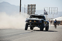 Rob MacCachren Trophy Truck arriving at finish of 2012 San Felipe Baja 250, San Felipe, Baja California, Mexico