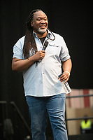 Reginald D Hunter AT 'LONDON'S FIRST FESTIVAL THIS SUMMER KALEIDOSCOPE TAKES PLACE AT ALEXANDRA PALACE,PHOTO BY BRIAN JORDAN