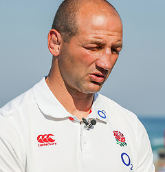 Steve Borthwick (Forwards Coach) of England during the England Press Conference at the Kashmir restaurant, and at the Beach in front of the team Hotel Umhlanga, Durban,South Africa.13,06,2018 Photo by (Steve Haag JMP)