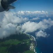 Above the coast of Ta'u Island, American Samoa.