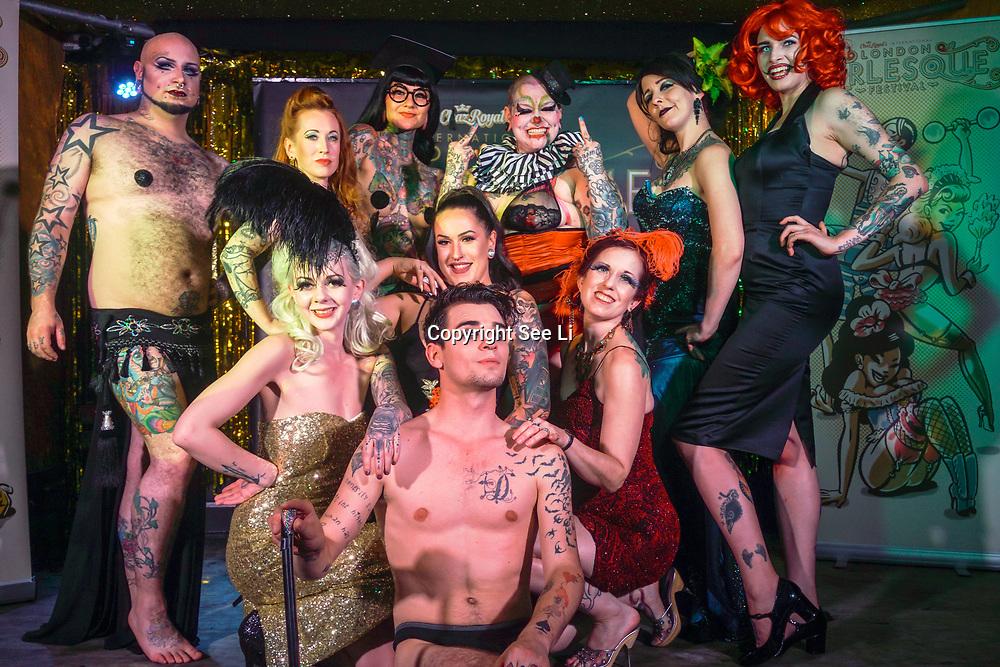London,England,UK. 22th May 2017. London Burlesque Festival - Tattoo Revue at Moth Club, Hackney,London,UK. by See Li