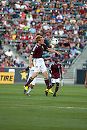 August 4, 2012:Colorado Rapids midfielder Jeff Larentowicz (4) elevates to meet the ball in the first half against Real Salt Lake at Dick's Sporting Goods Park in Denver, Colorado