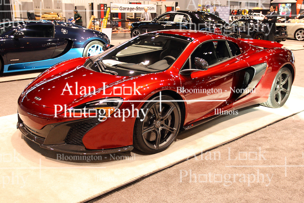 11 February 2016: McLaren 650S Spider<br /> <br /> First staged in 1901, the Chicago Auto Show is the largest auto show in North America and has been held more times than any other auto exposition on the continent.  It has been  presented by the Chicago Automobile Trade Association (CATA) since 1935.  It is held at McCormick Place, Chicago Illinois<br /> #CAS16