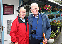N Ireland news media photographers Raymond Humphries (left) and Victor Patterson, September, 2019, Humphries_Patterson_201909127269<br />