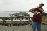 The destroyde bridge across the bay at Bay St. Louis pictured after Hurricane Katrina blew through town Thursday Sept. 1,2005.Katrina is the worst storm to ever hit American soil in history.(Photo/SuziAltman)