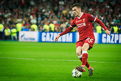 Andy Robertson of Liverpool during the UEFA Champions League final football match between Liverpool and Real Madrid at the Olympic Stadium in Kiev, Ukraine on May 26, 2018.Photo by Sandi Fiser / Sportida