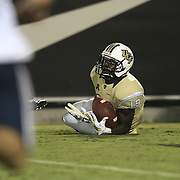ORLANDO, FL - OCTOBER 09:  Josh Reese #19 of the UCF Knights makes a touchdown catch in the second half at Bright House Networks Stadium on October 9, 2014 in Orlando, Florida. (Photo by Alex Menendez/Getty Images) *** Local Caption *** Josh Reese