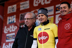 Emma Johansson (Wiggle Hi5) is the new leader of the Lotto Cycling Cup competition after Dwars door de Westhoek 2016. A 127km road race starting and finishing in Boezinge, Belgium on 24th April 2016.