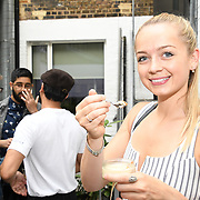 Lauren Kennedy @lookgoodwithlauren attend the Oppo party to launch its new Madagascan Vanilla, Sicilian Lemon and Raspberry Cheesecakes, served with Skinny Prosecco at Farm Girls Café, 1 Carnaby Street, Soho, London, UK on July 18 2018.