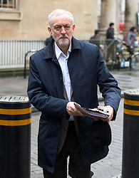 © Licensed to London News Pictures. 17/01/2016. London, UK. Labour party leader JEREMY CORBYN arriving at BBC Broadcasting House to appear on The Andrew Marr Show on BBC One. Photo credit: Ben Cawthra/LNP