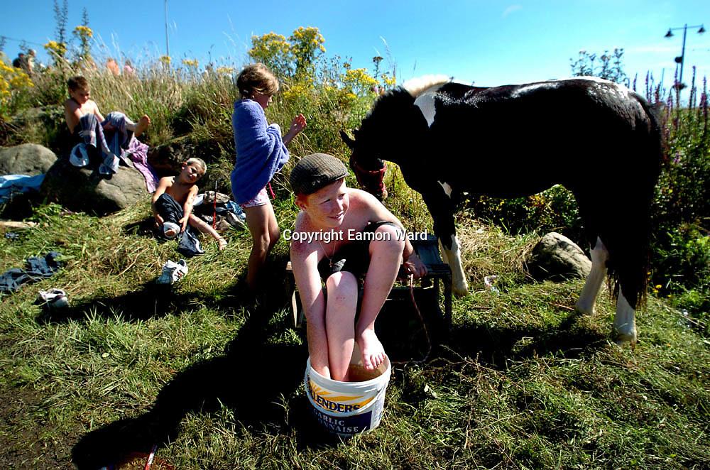 Cooling down at Puck Fair ,Killorglin,Co Kerry. Photograph by Eamon Ward