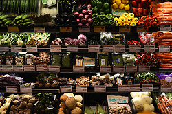 """EMBARGOED TO 0001 MONDAY APRIL 15 File photo dated 27/04/18 of a view of vegetables on sale in London. Planned """"good food nation"""" legislation should include the right to food, the Scottish Human Rights Commission has said."""