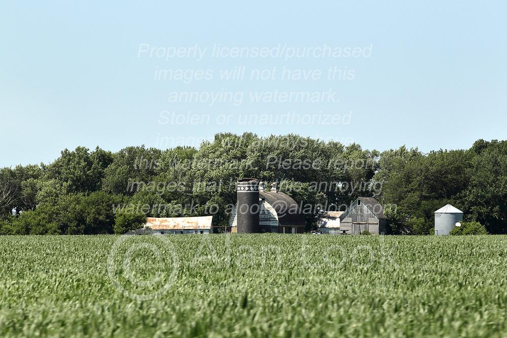 A grain farming operation in eastern South Dakota