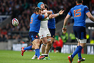 James Haskell of England reacts to knocking on in the first half during the RBS 6 Nations match at Twickenham Stadium, Twickenham<br /> Picture by Andrew Tobin/Focus Images Ltd +44 7710 761829<br /> 21/03/2015