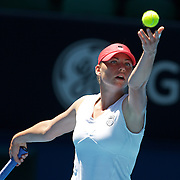 Vera Zvonareva of Russia on her way to victory over Marion Bartoli of France  at the Australian Tennis Open on January 27, 2009 in Melbourne, Australia. Photo Tim Clayton    .