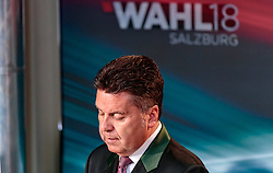 22.04.2018, Wahlzentrum, Salzburg, AUT, Salzburger Landtagswahl, im Bild SBG Spitzenkandidat Hans Mayr // during the Salzburg state election 2018 in the election center in Salzburg, Austria on 2018/04/22. EXPA Pictures © 2018, PhotoCredit: EXPA/ JFK