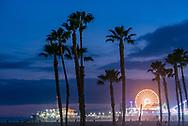 The Santa Monica Pier.