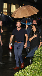 May 3, 2018 - New York City, New York, U.S. - Actor SCOTT EASTWOOD arrives in a downpour during the Longchamp Fifth Ave Opening. (Credit Image: © Nancy Kaszerman via ZUMA Wire)