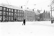 De Kneuterdijk met sneeuw bedekt, Den Haag 2021