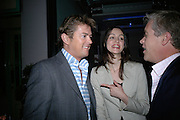 Rupert Lund, Alison Moodie and Peter Thompson, Lady Elizabeth Anson and Rupert Lund host the launch of The Rupert Lund Showroom. Chelsea Manor st. London. 2 May 2007.  -DO NOT ARCHIVE-© Copyright Photograph by Dafydd Jones. 248 Clapham Rd. London SW9 0PZ. Tel 0207 820 0771. www.dafjones.com.
