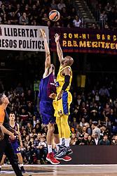 November 1, 2018 - Barcelona, Barcelona, Spain - In actions during EuroLeague match between FC Barcelona Lassa and Maccabi Fox Tel Aviv  on November 01, 2018 at Palau Blaugrana, in Barcelona, Spain. (Credit Image: © AFP7 via ZUMA Wire)