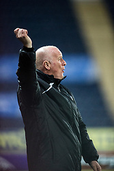 Falkirk's manager Peter Houston.<br /> Falkirk 1 v 0 Cowdenbeath, William Hill Scottish Cup game played 29/11/2014 at The Falkirk Stadium.