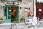 wine shop caveau du  gigondas rhone france