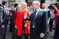 President of the community Cristina Cifuentes and Real Madrid's president Florentino Perez leaves Seat of Government in Madrid, May 22, 2017. Spain.<br /> (ALTERPHOTOS/BorjaB.Hojas)