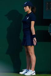 LONDON, ENGLAND - Monday, June 23, 2008: A Wimbledon ball-girl during day one of the Wimbledon Lawn Tennis Championships at the All England Lawn Tennis and Croquet Club. (Photo by David Rawcliffe/Propaganda)