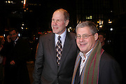 Michael Eisner and Cameron Mackintosh, Mary Poppins Gala charity night  in aid of Over the Wall. Prince Edward Theatre. 14 December 2004. ONE TIME USE ONLY - DO NOT ARCHIVE  © Copyright Photograph by Dafydd Jones 66 Stockwell Park Rd. London SW9 0DA Tel 020 7733 0108 www.dafjones.com