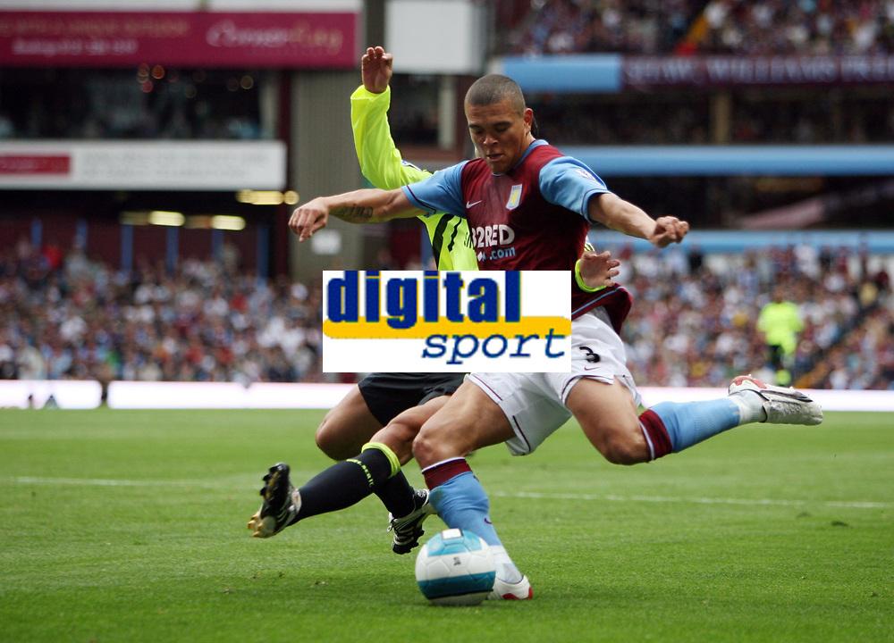 Photo: Rich Eaton.<br /> <br /> Aston Villa v Chelsea. The FA Barclays Premiership. 02/09/2007. Aston Villa's Wilfred Bouma shoots.