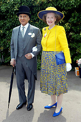 17/06/2003<br /> First Day of Royal Ascot at Ascot Race Course, Berkshire<br /> Ravi Tickoo and Countess Raine Spencer; 17/06/2003<br /> Royal Ascot 1st day<br /> Raine Spencer and Ravi Tickoo