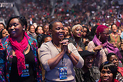 An enthusiastic audience at the Biolife Sounds of Reggae at Brooklyn's Barclays Center.