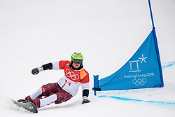 PYEONGCHANG-GUN, SOUTH KOREA - FEBRUARY 24: Rok Marguc of Slovenia competes during the Men's Parallel Giant Slalom Elimination Run on day fifteen of the PyeongChang 2018 Winter Olympic Games at Phoenix Snow Park on February 24, 2018 in Pyeongchang-gun, South Korea. Photo by Ronald Hoogendoorn / Sportida