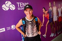 PORTOROZ, SLOVENIA - SEPTEMBER 17:  Kaja Juvan posing after winning in 3rd Round during the WTA 250 Zavarovalnica Sava Portoroz at SRC Marina, on September 17, 2021 in Portoroz / Portorose, Slovenia. Photo by Vid Ponikvar / Sportida