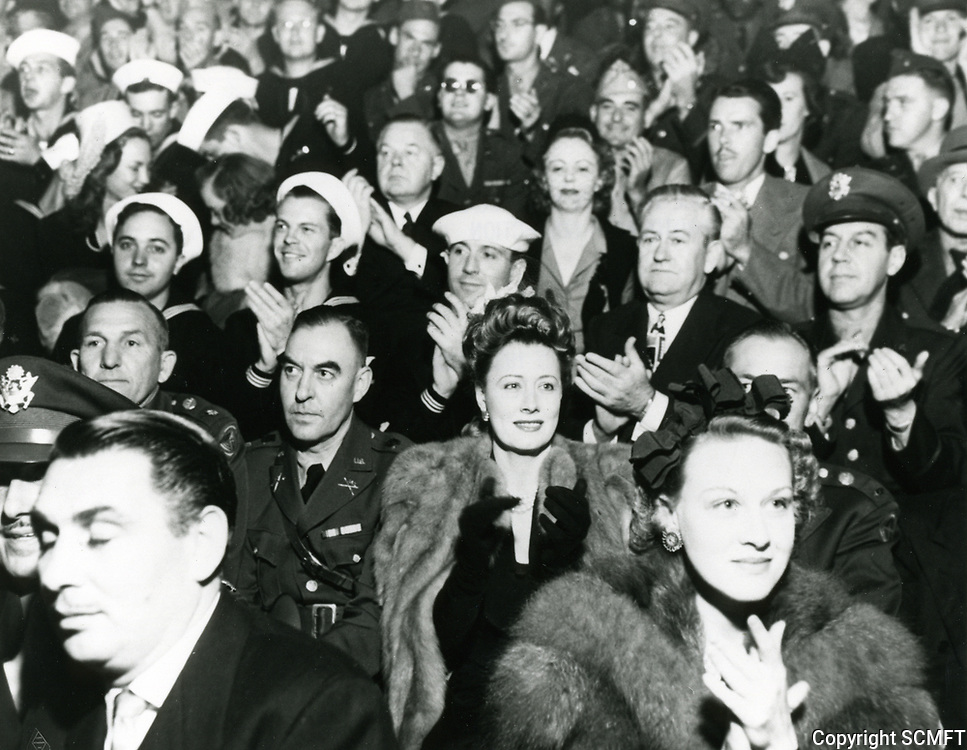 1942 Irene Dunne at the Hollywood Canteen