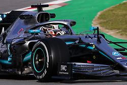 February 19, 2019 - Barcelona, Barcelona, Spain - Lewis Hamilton of Great Britain with 44 Mercedes AMG Petronas Motorsport W10 in action during the Formula 1 2019 Pre-Season Tests at Circuit de Barcelona - Catalunya in Montmelo, Spain on February 19. (Credit Image: © Xavier Bonilla/NurPhoto via ZUMA Press)