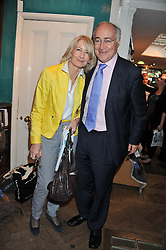 MICHAEL & SANDRA HOWARD at a party to celebrate the publication of Stanley Johnson's new book 'Where The Wild Things Were' held at Daunt Books, 83 Marylebone High Street, London W1 on 18th July 2012.