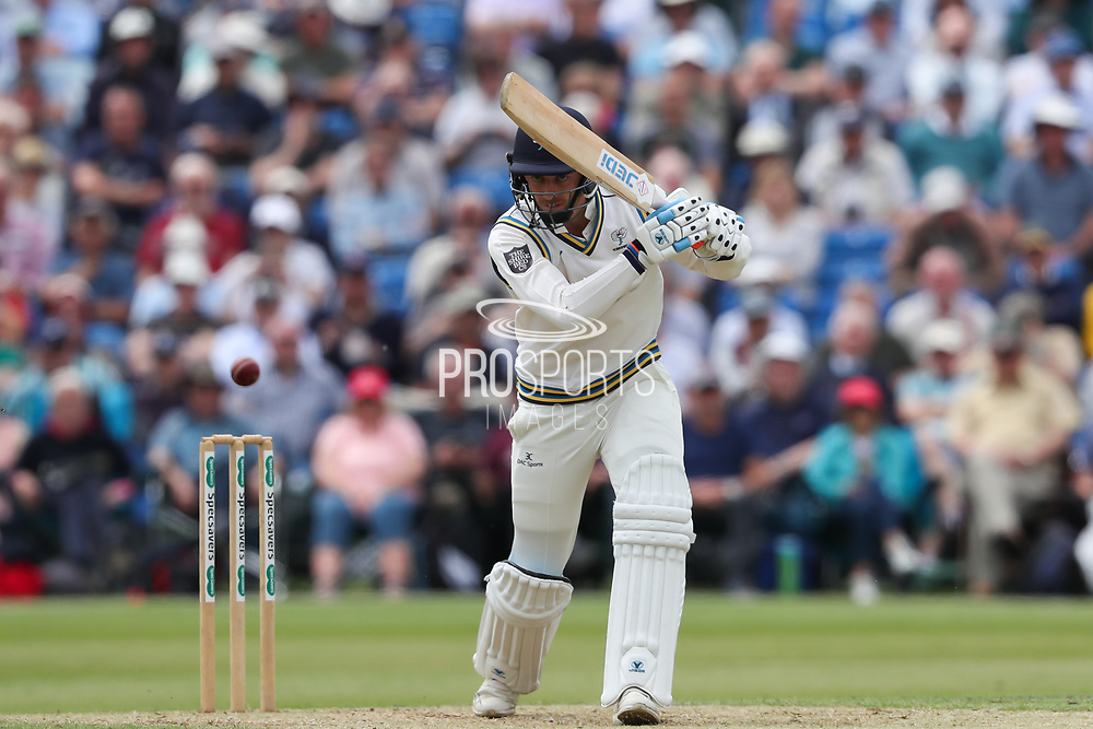 Ben Coad of Yorkshire batting during the Specsavers County Champ Div 1 match between Yorkshire County Cricket Club and Warwickshire County Cricket Club at York Cricket Club, York, United Kingdom on 18 June 2019.