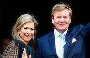 Koning Willem-Alexander en Koningin Maxima houden dinsdag 12 januari 2016 de traditionele Nieuwjaars