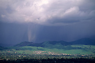 Downpour of rain from storm cloud, Contra Costa County CALIFORNIA