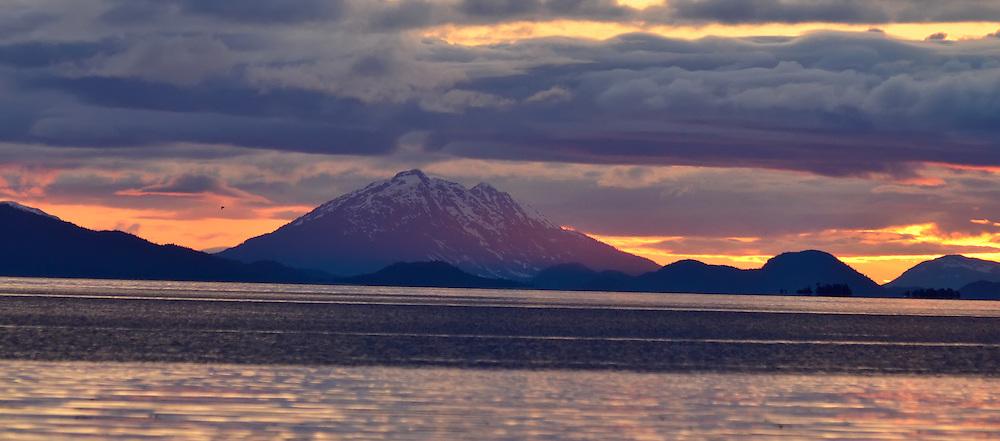 Sunset, Stephen's Passage, Southeast Alaska.