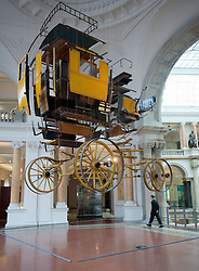 Stagecoach sculpture called Berliner Luft Post by Stefan Sous at  Museum of Communications in Mitte Berlin Germany