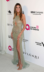 Heidi Klum arriving at the Elton John Oscar Party held in Beverly Hills, Los Angeles, USA.